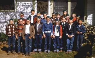 The boys, and one girl, of Navelencia 4-H, 1949